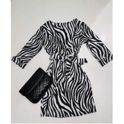 Ζεβρέ animal print μίνι φόρεμα